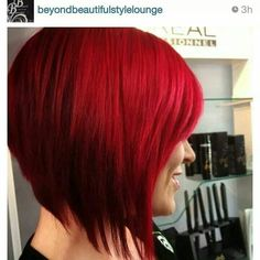 Bright red short hair. Beautiful. Am I that brave?