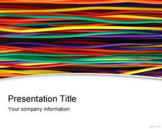 Free Wires and Cables PowerPoint Template with colors