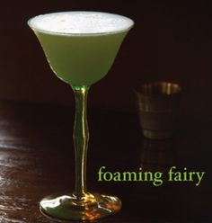 Foaming Fairy  By: Greg Henry  Ingredients  2 ounce Hayman's Old Tom Gin ½ ounce freshly squeezed lemon juice ½ ounce absinthe 1 small egg white 4 drop The Bitter Truth Creole Bitters http://www.sippitysup.com/absinthe-cocktails-foaming-fairy/