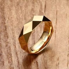 Fashion Silver/Gold /Rose Gold Color Tungsten Steel Men women Ring Wedding Party Finger Rings For Male Cool High end Jewelry Unique Diamond Rings, Unique Rings, Gold Rings, Curved Wedding Band, Diamond Wedding Bands, Gold Ring Designs, Mens Ring Designs, Bridal Rings, Vintage Engagement Rings