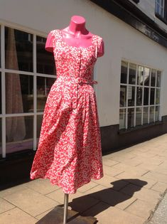Liberty Tana Lawn Cotton Print Vintage Vogue Dress | Stone Fabrics and Sewing Surgery