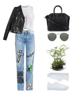 #474 by missad3 on Polyvore featuring mode, VILA, Yves Saint Laurent, Aries, adidas Originals, Givenchy, Ray-Ban and NDI