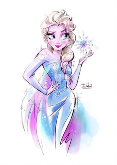 Queen Elsa of Arendelle by darkodordevic on DeviantArt Disney Word, Film Disney, Disney Princess Art, Disney Fan Art, Disney Girls, Disney Princess Sketches, Disney Frozen Art, Frozen Princess, Elsa Drawing