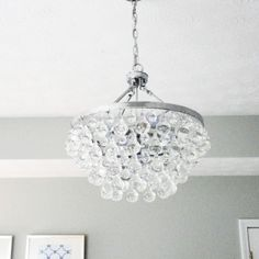 Palatial Rounded Chrome Finished Crystal Bedroom Chandeliers In Master Grey  Bedroom Decors