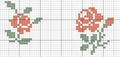 un solo color Tiny Cross Stitch, Cross Stitch Borders, Cross Stitch Flowers, Cross Stitch Charts, Cross Stitch Designs, Cross Stitching, Cross Stitch Embroidery, Cross Stitch Patterns, Loom Patterns