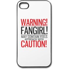 warning! fangirl! iPhone Case | Spreadshirt | ID: 26397933 ($23) ❤ liked on Polyvore featuring accessories, tech accessories, phone cases, phone, cases, tech, iphone cover case and iphone sleeve case