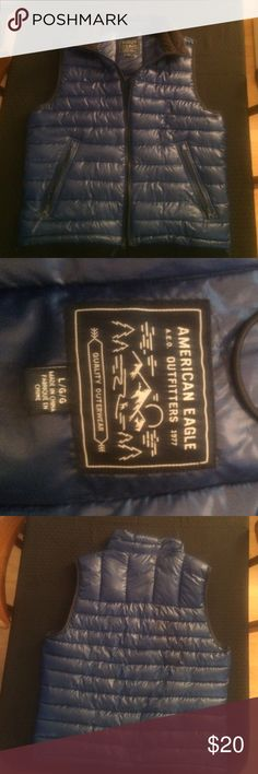 American eagle blue vest It's in perfect condition. It's a large American Eagle Outfitters Jackets & Coats Vests