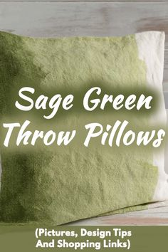 Sage Green Throw Pillows (Pictures, Design Tips And Shopping Links). Article by HomeDecorBliss.com #HDB #HomeDecorBliss #homedecor #homedecorideas