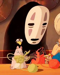 Spirited Away. I love this scene!! of course I do their knitting manga one purl one anime together