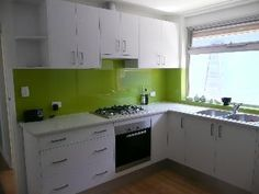 Can't wait to get our lime green splashback fitted in our kitchen!