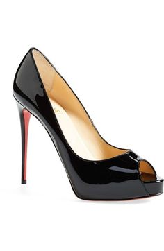 Christian Louboutin \u0027Prive\u0027 Open Toe Pump available at #Nordstrom. \u0027