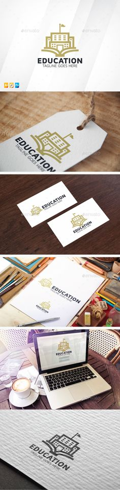 Education Logo Design Template Vector #logotype Download it here:  http://graphicriver.net/item/education/13080895?s_rank=961?ref=nexion