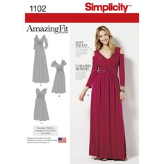Find a pattern for Misses & Plus Size Amazing Fit Dress in Knit at Simplicity, plus many more unique patterns. Visit today!