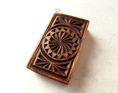BOOK of the SUN mini book maple wood PENDANT by MassoGeppetto, €40.00