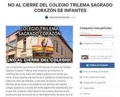 En menos de 18 horas ya se han recogido casi 1600 firmas en contra del Cierre del Colegio Trilema Sagrado Corazón de Infantes. GRACIAS!!!!!!