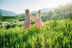 First Post :: Meet My Family — Girl Enchanted Lifestyle Blog Photo credit: Lori Romney Photography Family Pictures. Little Girls and flower crowns