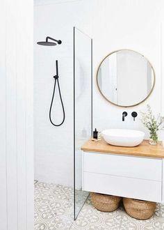 Bathroom Cupboards, Laundry In Bathroom, Bathroom Storage, Bathroom Organization, Organisation Hacks, Shiplap Bathroom, Ikea Bathroom, Tiny Bathrooms, Bathroom Plants