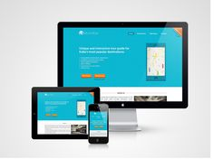 Working on a responsive website for MIE by Sai Nihas, via Behance
