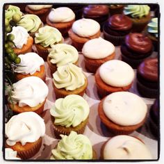 French vanilla, green tea, spiced chi Cupcakes  By Carter's Creative Catering