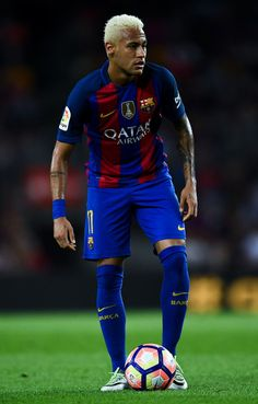 Neymar Jr. of FC Barcelona looks on during the La Liga match between FC…