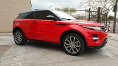 Apex Customs Range Rover Evoque Red 3M Vinyl Wrap