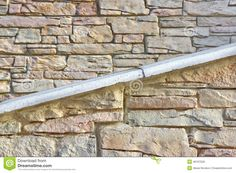 Building Facade Stone Wall With Ramp Or Stairway Stock Image - Image of estate, handhold: 46197509 Sign Image, Building Facade, Stairways, Textured Background, Stock Photos, Stone, Wood, Garden, Stairs