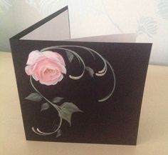 Personalised Greetings Card with Hand Painted Roses