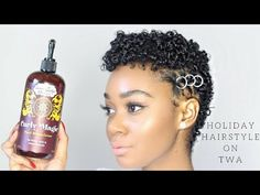 Easy Holiday Hairstyle for Short Natural Hair Big Chop Styles, Short Hair Styles, Holiday Hairstyles, Easy Hairstyles, Hairstyle Ideas, Tapered Twa Hairstyles, Twa Styles, Tapered Natural Hair, Hair Affair