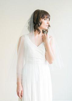 tulle wedding veil | veil by melinda rose design