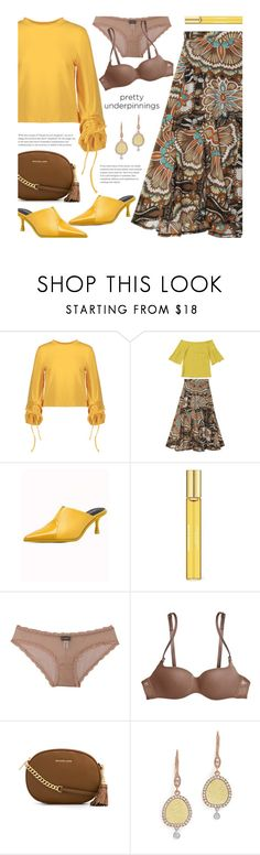 """The Prettiest Underpinnings"" by beebeely-look ❤ liked on Polyvore featuring Aromatherapy Associates, Cosabella, MICHAEL Michael Kors, Meira T, WorkWear, StreetChic, stretwear, zaful and prettyunderpinnings"