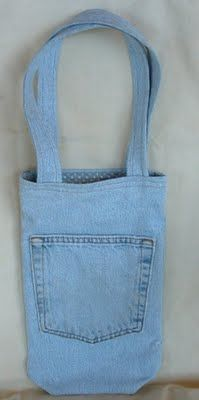 50 Creative and Cool Ways To Reuse Old Denim.  Cute small bag.