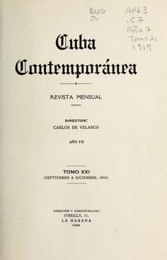 Cuba contemporánea [serial]