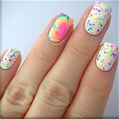FRECKLES (neon):  Custom-Blended NEON Glitter Nail Polish / Lacquer/ indie polish on Etsy, $5.00