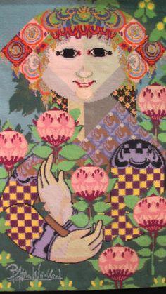 Large Signed Bjorn Wiinblad Wool Textile Tapestry of Fatima 1960 1970 | eBay