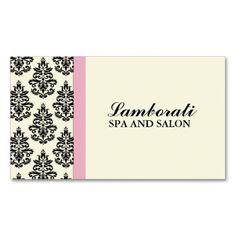Elegant Damask Floral Stylist Salon Hairdresser Business Card Templates