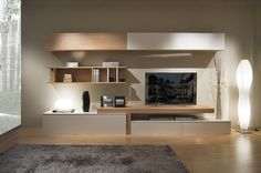 20 Outstanding Ideas For TV Shelves To Design More Attractive Living Room TV shelves are necessary items for every living room, and the. Living Room Tv Wall, Living Room Tv, Living Room Wall Units, Living Design, Home And Living, Living Room Designs, Home Living Room, Interior Design, Tv Shelf