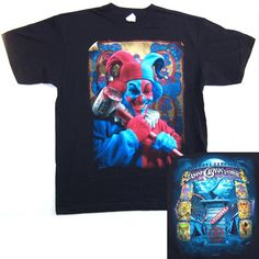 "INSANE CLOWN POSSE ""BLOODY HAMMER"" JESTER T-SHIRT LARGE NEW OFFICIAL TOM WOOD"