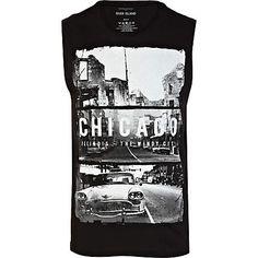 Black Chicago print vest £14.00