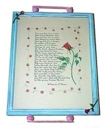 How to Make a Homemade Tray from a Document Frame or Picture Frame