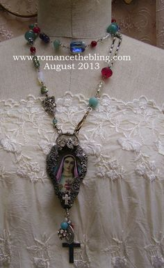 Gilded Madonna Assemblage Necklace by Romancing the Bling ~ <3