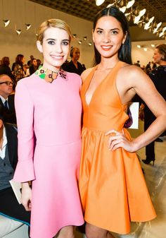 Emma Roberts and Olivia Munn at Valentino Sala Bianca 945