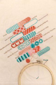 Clases de bordado | Karen Barbé | Textile designer | Bloglovin'
