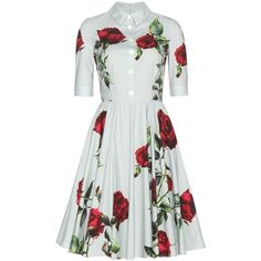 Dolce & Gabbana Floral-Printed Cotton Dress (15.570.540 IDR) ❤ liked on Polyvore featuring dresses, day dresses, dolce & gabbana, vestidos, grey, cotton floral dress, floral printed dress, gray floral dress, grey floral dress and dolce gabbana dresses