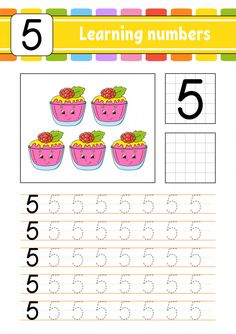 Trace and write. Numbers Preschool, Preschool Letters, Preschool Books, Learning Numbers, Preschool Math, Kindergarten, Preschool Education, Kids Learning Activities, Teaching Resources