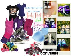 """""""Lady Foot Locker and Converse (Double Combo)"""" by limitlesswithbigbang on Polyvore"""
