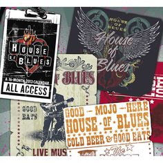 Like, share, repin :D   Enjoy    House of Blues Wall Calendar: The ultimate live music and dining experience, the House of Blues features your favorite music acts in the intimate space you want to see them. The House of Blues: Where music and food feed the soul.  http://www.calendars.com/Jazz-and-Blues/House-of-Blues-2013-Wall-Calendar/prod201300005339/?categoryId=cat00088=cat00088