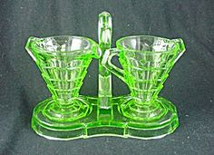 Tea Room Sugar & Creamer Set - Green