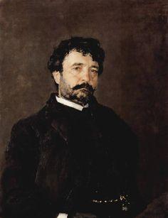 Portrait of the Singer Angelo Mazini, 1890, Valentin Serov Size: 70x89 cm Medium: oil, canvas