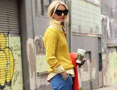 shades of yellow + brights
