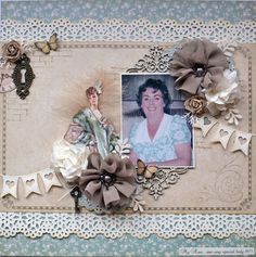 Gorgeous A Ladies' Diary layout from Karen Shady! #graphic45 #layouts